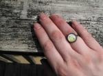 Pear petite ring