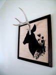 Wild flower deer cameo (side)