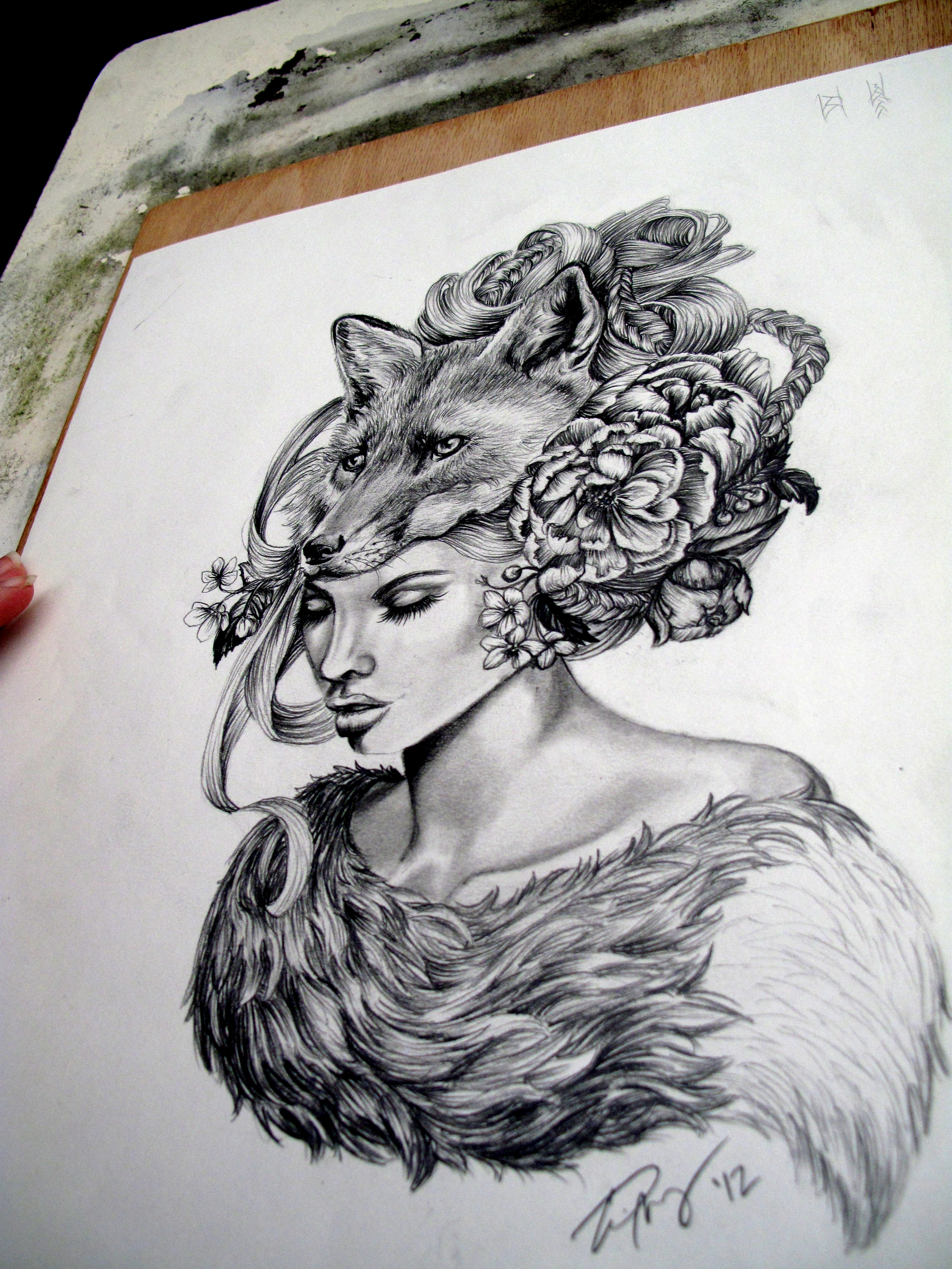 Bear headdress drawing - photo#24