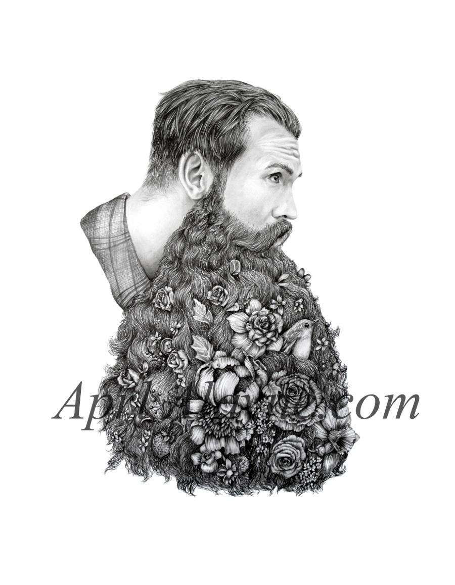Man With Beard Illustr...
