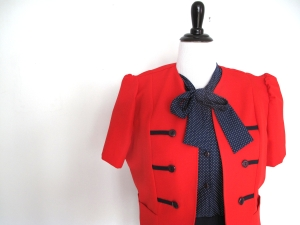 Matching Jacket for blue polka dot dress