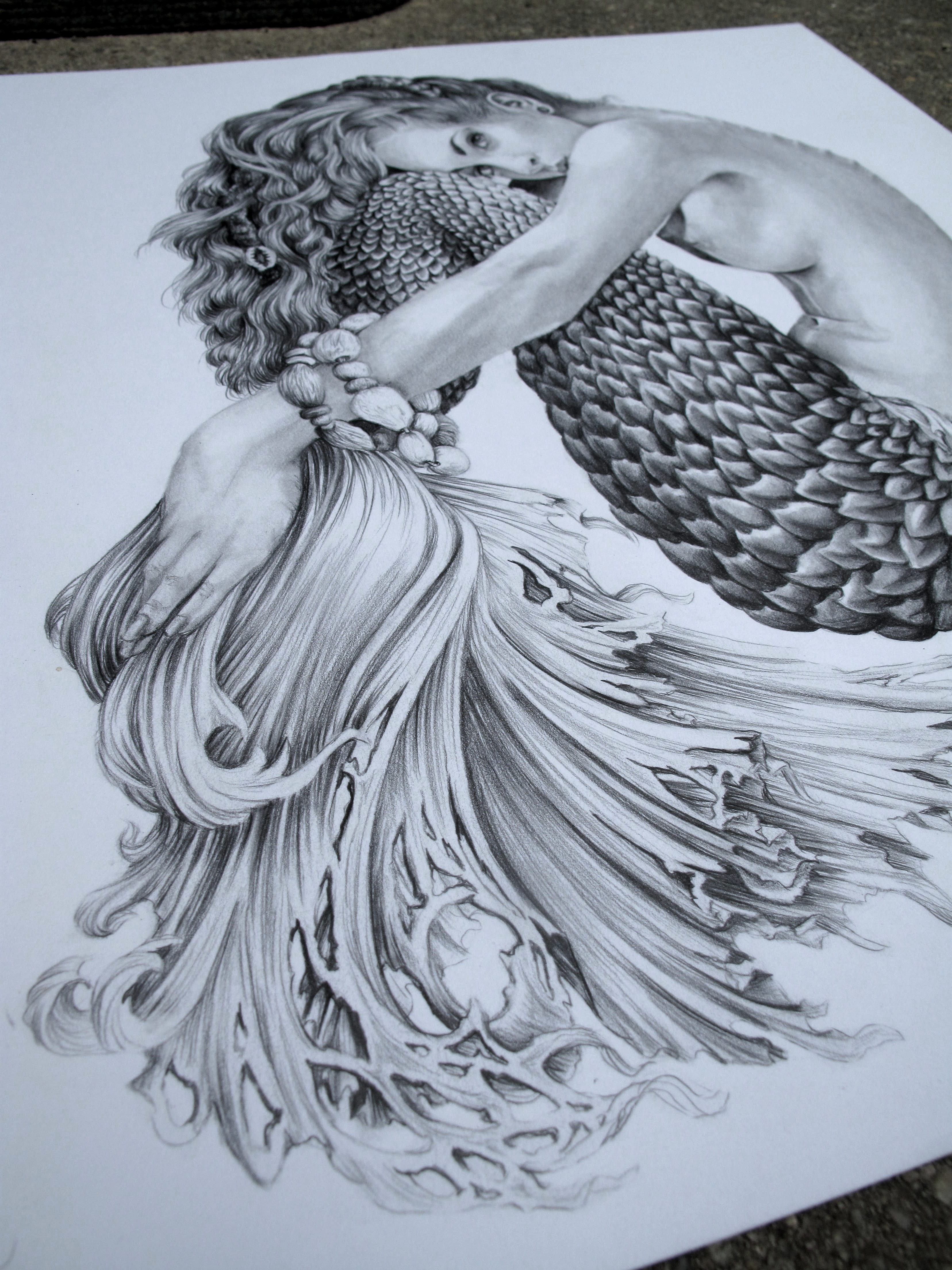 Pretty Mermaid Drawings In Pencil | www.imgkid.com - The ...